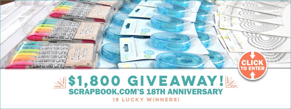 $1,800 Scrapbook.com 18th Anniversary Giveaway - Slider 2