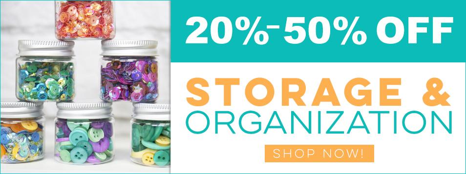 20% off storage and organization