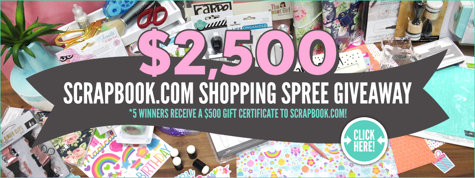 $2,500 Scrapbook.com Shopping Spree Giveaway-Slider 1