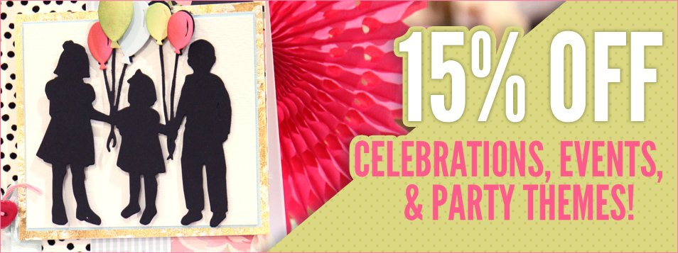 15% off party celebrations