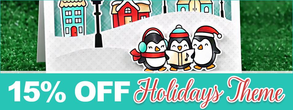 2017 15% off holidays theme