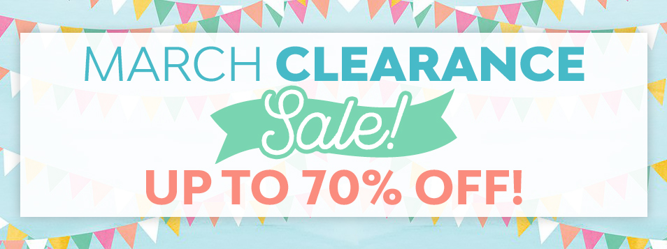 clearance sale MARCH 2018