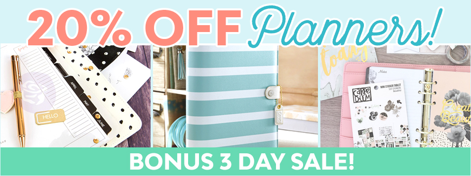 planners 20% off january
