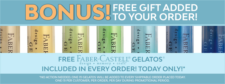 free gelatos in every shipped order