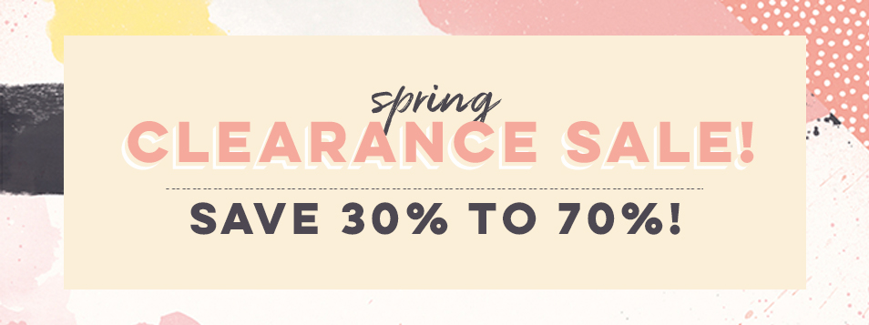 Spring Clearance Sale 2018