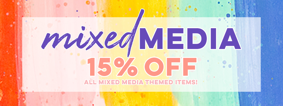 15% off mixed media theme