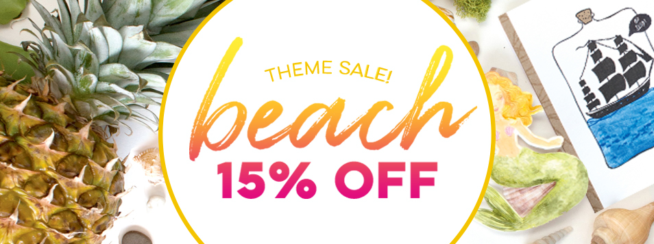 15% off beach theme