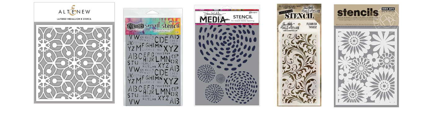 Scrapbooking Stencil Craft Stencil Motivational Words Stencil